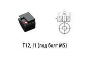 T12, I1 (под болт М5)