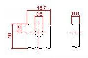 B5 (под болт М6 с гайкой)