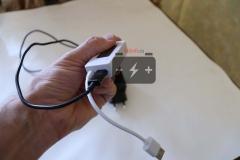 Можно через порт micro USB