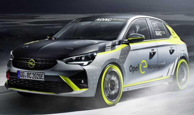 Передняя часть Opel Corsa-e Rally