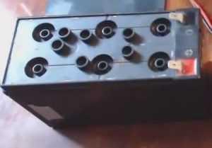 Аккумулятор готов к заливке воды