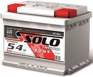 Автомобильный аккумулятор Solo