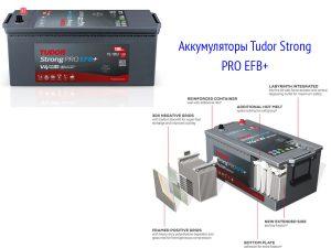 Аккумуляторы Tudor StrongPRO EFB+