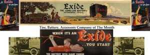 Реклама Exide прежних лет