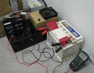Зарядка аккумулятора при постоянном напряжении