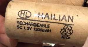 Одна Ni-Cd батарейка из аккумулятора