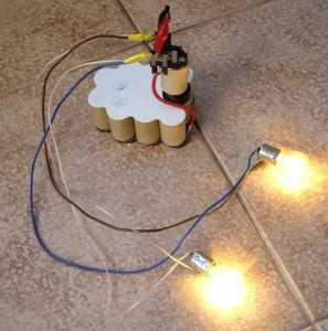 Разрядка аккумулятора шуруповёрта лампочкой