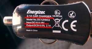 Характеристики автомобильной зарядки