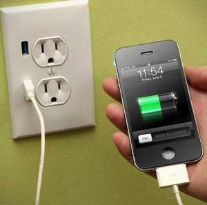 Зарядка аккумулятора смартфона