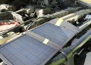 Зарядка автомобильного аккумулятора от солнечной батареи