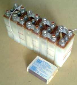 Размер серебряно-цинковых аккумуляторов