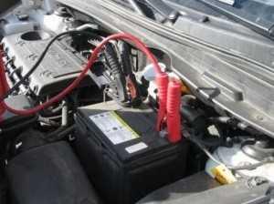 Зарядка аккумулятора прямо на машине