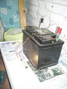Разрядка аккумулятора автомобильными лампочками