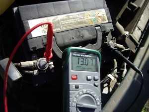 Напряжение от генератора в бортовой сети