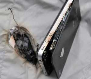 Взорвавшийся телефон