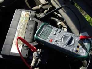 Замер напряжения на авто при работающем моторе