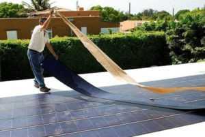 Использование гибких солнечных панелей