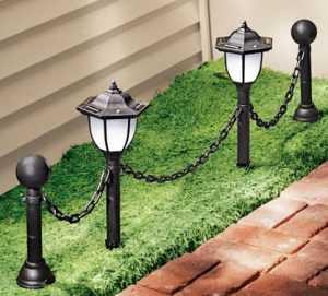 Светильник для освещения газона и дорожек