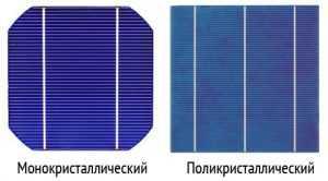 Основные типы фотоэлементов для солнечных батарей