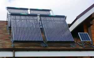 Солнечный водонагреватель для отопления дома