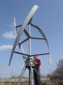 Ветрогенератор с геликоидным ротором
