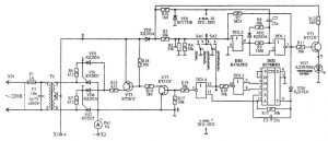 Принципиальная схема зарядного устройства «Кедр-М». Вариант 1