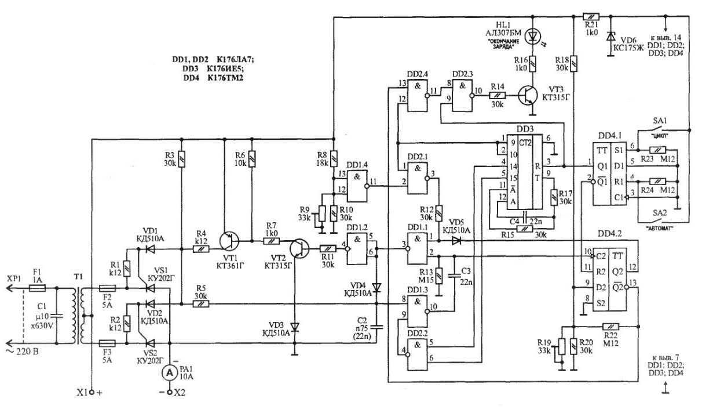 Схема предпускового зарядного устройства кедр авто 10 фото 404