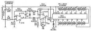 Схема индикатора тока для импульсного ЗУ
