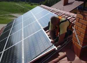Установка солнечных модулей