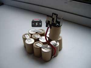 Никель-кадмиевые аккумуляторы в батарее шуруповёрта