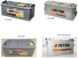 Аккумуляторы «Исток» для грузовых автомобилей
