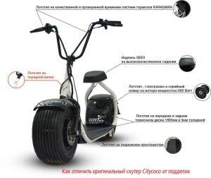 Как отличить оригинальный скутер Citycoco от подделок