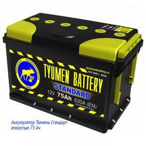 Аккумуляторная батарея Тюмень Стандарт 75 Ач