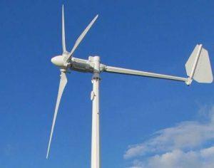 Внутри мачты промышленного «ветряка»