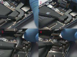 Отключение шлейфов Apple iPhone 6