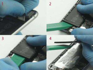 Вытаскиваем аккумуляторную батарею