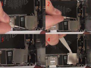 Снимаем защитную металлическую пластину Apple iPhone 5S
