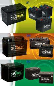 Аккумуляторы Global (JIS, Euro, BSI)