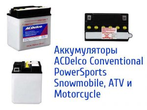 ACDelco Conventional PowerSports Snowmobile, ATV и Motorcycle