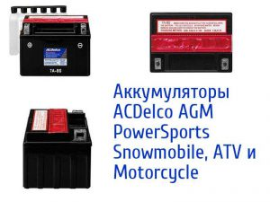 ACDelco AGM PowerSports Snowmobile, ATV и Motorcycle