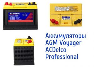 AGM Voyager ACDelco Professional