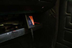 Автосканер подключён в разъём