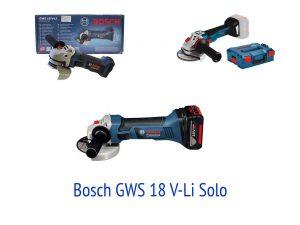 Аккумуляторная болгарка Bosch GWS 18 V-Li Solo