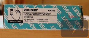Упаковка тестера автомобильных аккумуляторов GK503