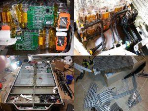 Элементы внутри аккумулятора Тесла