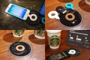 Беспроводные зарядки в кафе