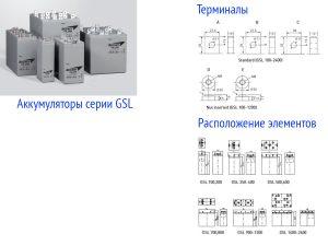 Промышленные аккумуляторные батареи Sebang GSL