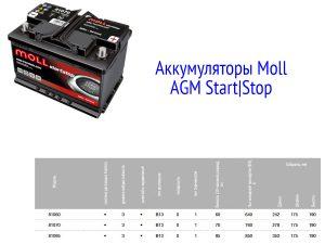 Аккумуляторы Moll AGM