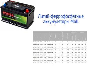 Аккумуляторные батареи Moll LiFePO4