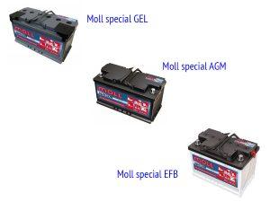 Специальные АКБ Moll для второстепенных систем и освещения